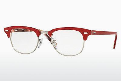 Designerbrillen Ray-Ban CLUBMASTER (RX5154 5651) - Rood, Met patroon