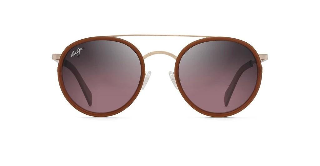 Maui Jim   Even Keel RS534-16R RoseRose Gold w/ Translucent Coconut Matte Brown