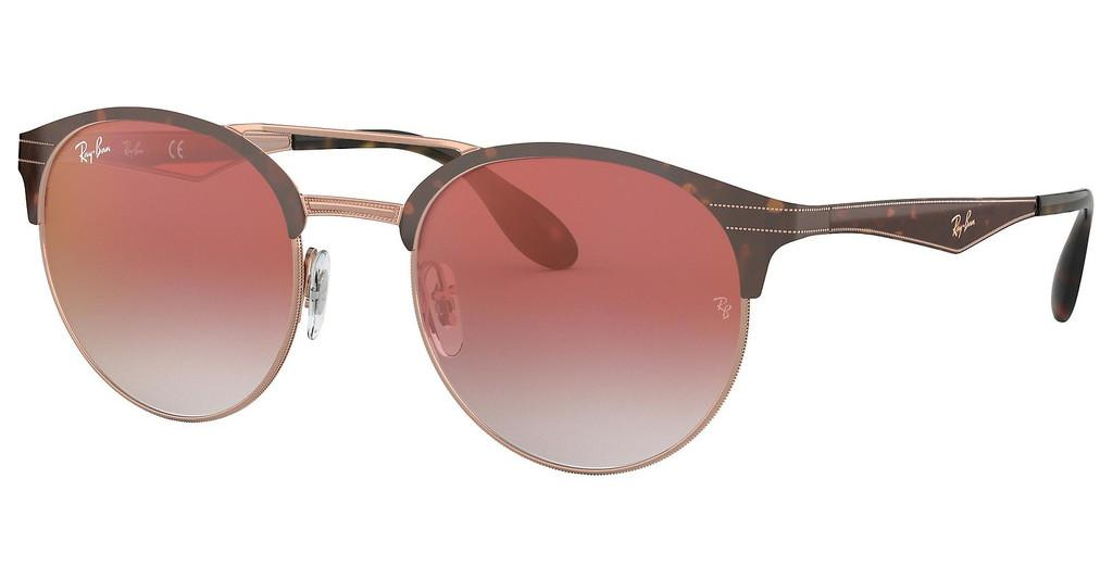 Ray-Ban   RB3545 9074V0 GRADIENT RED MIRROR REDCOPPER ON TOP HAVANA
