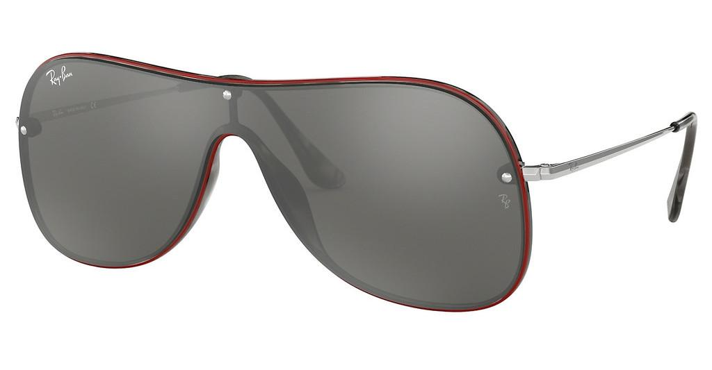 Ray-Ban   RB4311N 63596G GREY MIRROR SILVERHAVANA GREY ON TOP RED