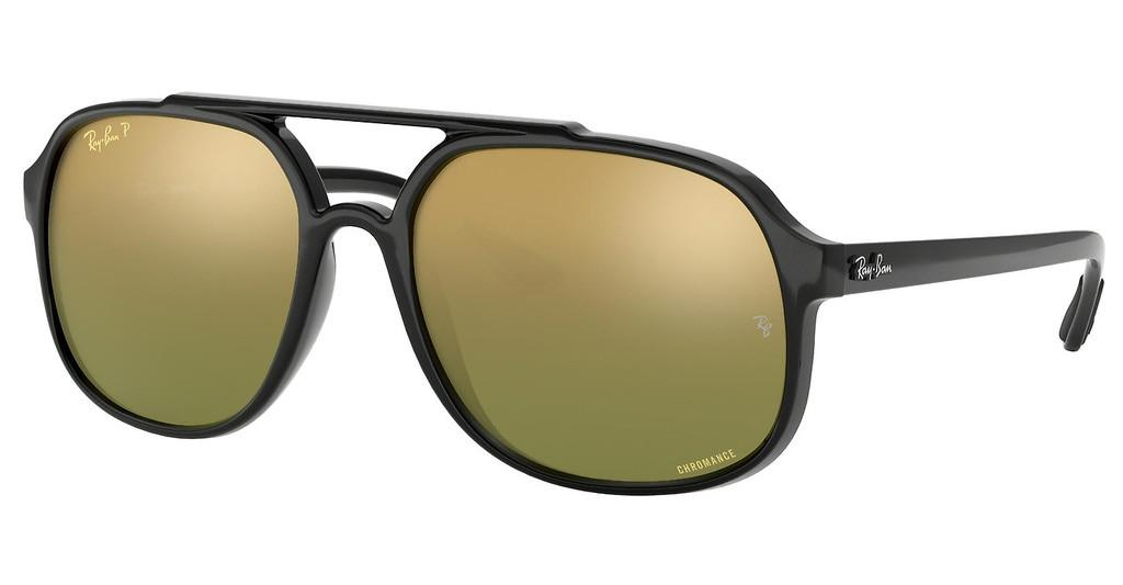 Ray-Ban   RB4312CH 876/6O GREEN MIR GOLD GRADIENT POLARSHINY GREY