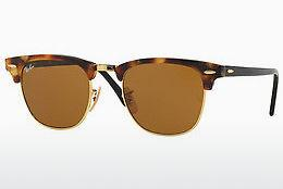 Zonnebril Ray-Ban CLUBMASTER (RB3016 1160) - Bruin, Havanna