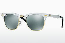 Zonnebril Ray-Ban CLUBMASTER ALUMINUM (RB3507 137/40) - Wit