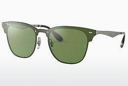 Zonnebril Ray-Ban Blaze Clubmaster (RB3576N 042/30) - Groen, Zilver