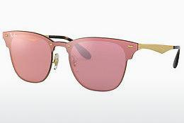 Zonnebril Ray-Ban Blaze Clubmaster (RB3576N 043/E4) - Roze, Goud