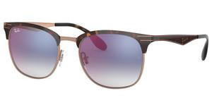 Ray-Ban RB3538 9074X0 GRADIENT BLUE MIRROR REDCOPPER ON TOP HAVANA