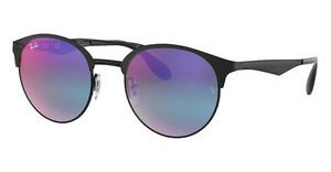 Ray-Ban RB3545 186/B1 GREEN MIRROR BLUE GRAD VIOLETBLACK/MATTE BLACK