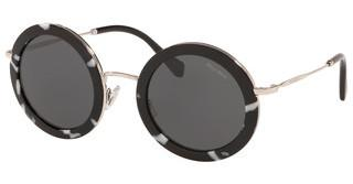 Miu Miu MU 59US PC75S0 DARK GREYHAVANA BLACK/WHITE