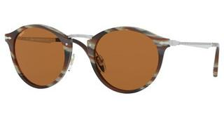 Persol PO3166S 111353 LIGHT BROWNSTRIPED BROWN