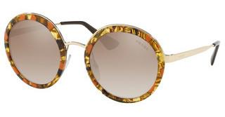 Prada PR 50TS KJN4P0 BROWN GRAD GREY MIRROR SILVERSTRIPED BROWN/ORANGE