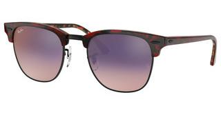 Ray-Ban RB3016 12753B PINK GRADIENT VIOLETTOP TRASP RED ON HAVANA ORANGE