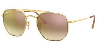 Ray-Ban RB3648 001/7O BROWN GRAD BROWN MIRROR PINKGOLD