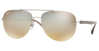 Ray-Ban RB8059 003/B8 GRADIENT BROWN MIRROR SILVERSILVER