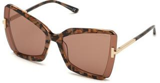 Tom Ford FT0766 55Y violetthavanna bunt