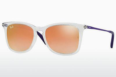 Zonnebril Ray-Ban Junior RJ9063S 7030B9 - Wit, Doorzichtig