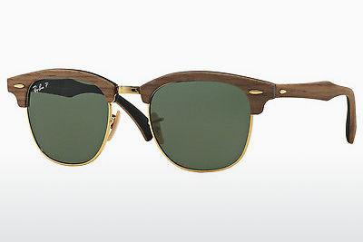 Zonnebril Ray-Ban CLUBMASTER (M) (RB3016M 118158) - Zwart