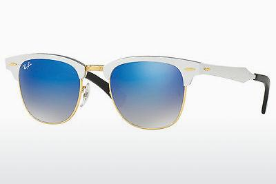 Zonnebril Ray-Ban CLUBMASTER ALUMINUM (RB3507 137/7Q) - Wit