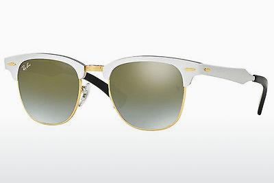 Zonnebril Ray-Ban CLUBMASTER ALUMINUM (RB3507 137/9J) - Wit