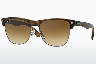 Zonnebril Ray-Ban CLUBMASTER OVERSIZED (RB4175 878/51) - Grijs, Bruin, Havanna
