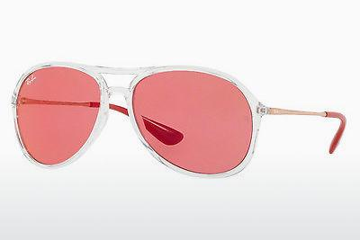 Zonnebril Ray-Ban ALEX (RB4201 6293C8) - Wit, Doorzichtig